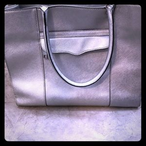 Recceca Minkoff silver leather MAB purse